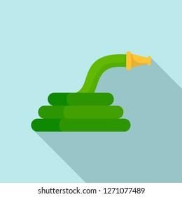 Garden hose icon. Flat illustration of garden hose vector icon for web design