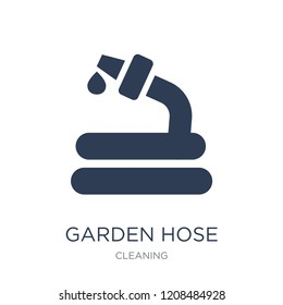 Garden hose icon. Trendy flat vector Garden hose icon on white background from Cleaning collection, vector illustration can be use for web and mobile, eps10