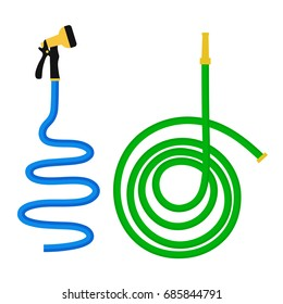 Garden hose isolated on white background, vector illustration
