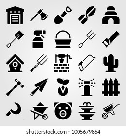 Garden Tools Icon Pack Stock Vector (Royalty Free) 346426967