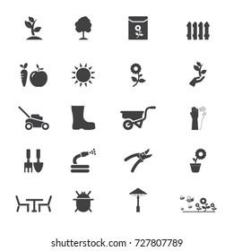 Garden icons. Vector garden icon set.