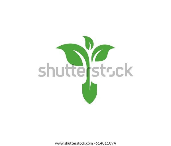 Garden Logo Stock Vector (Royalty Free) 614011094