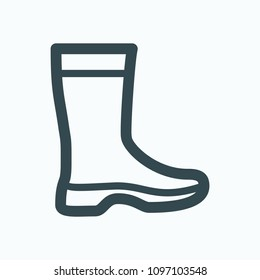 Garden rubber boots icons, gumboots vector icon