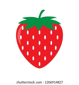 Garden strawberry icon. Vector illustration
