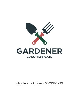 garden tools design logo template
