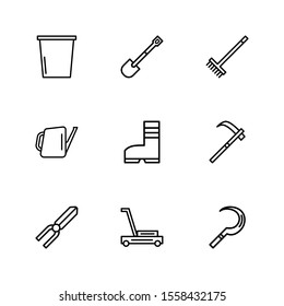 Garden Tools icon vector illustration logo template for many purpose. Isolated on white background.