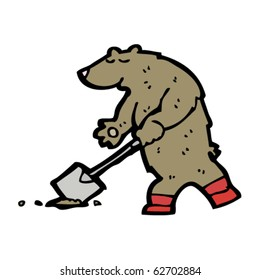 gardening bear cartoon