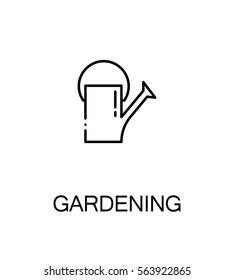 Gardening cloud icon. Single high quality outline symbol for web design or mobile app. Thin line sign for design logo. Black outline pictogram on white background