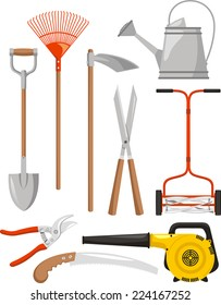 Gardening Equipment Vector illustration cartoon.