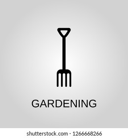 Gardening icon. Forks concept symbol design. Stock - Vector illustration can be used for web