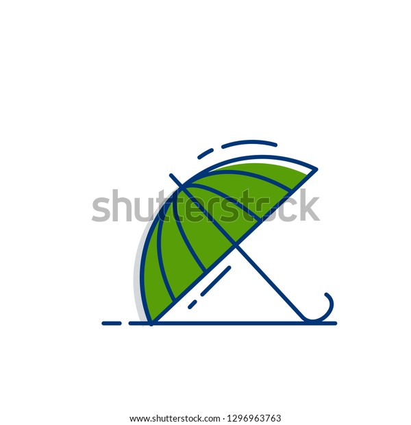 Gardening icon set | Umbrela icon - with Outline Filled Style
