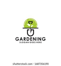 Gardening Logo Design Vector Template