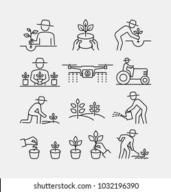 Gardening and Planting Vector Icons