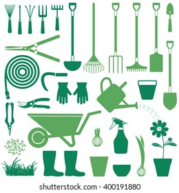 Gardening related vector icons 2