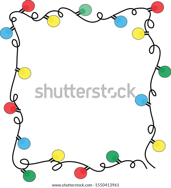 Garland Christmas Background Wallpaper Children Greeting Stock Vector Royalty Free 1550413961
