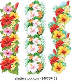Garlands of hibiscus flowers