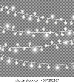 Rope lights images stock photos vectors shutterstock garlands with round bulbs on dark transparent background christmas lights design elements with black ropes aloadofball Gallery