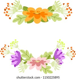 Garlands of wild flowers.