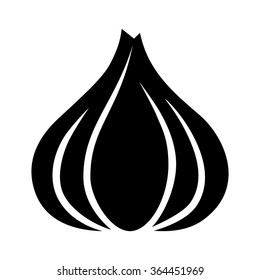 Garlic bulb / allium sativum flat vector icon for food apps and websites