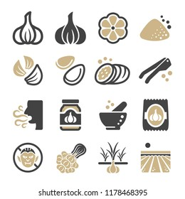 garlic icon set