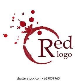 Garnet contour splashes logo