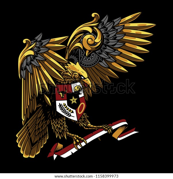 Garuda Pancasila Indonesia Illustration Royalty Free Stock Image