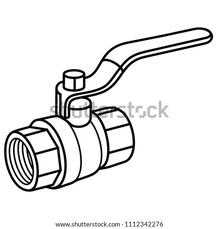 Gas Ball Valve Use Flow Control Stock Vector Royalty Free