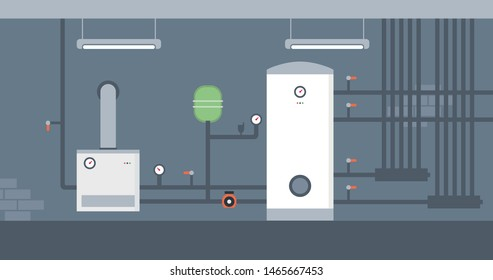 Gas boiler - central heating installations