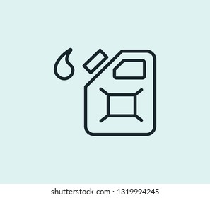 Gas can icon line isolated on clean background. Gas can icon concept drawing icon line in modern style. Vector illustration for your web mobile logo app UI design.