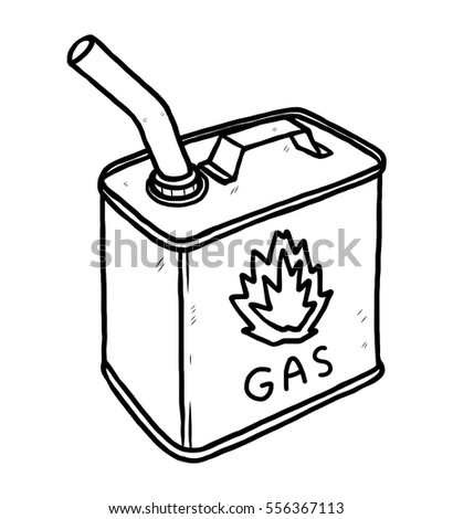 gas container bottle cartoon vector illustration のベクター画像素材
