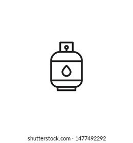 Gas Cylinder Icon. Liquid Propane Gas sign Illustration symbol design. Modern, simple flat vector illustration for web site or mobile app