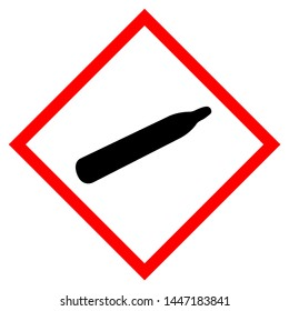 Gas Cylinder Symbol Sign, Vector Illustration, Isolate On White Background Label. EPS10