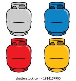 Bouche vectorielle bouteille à gaz. Conteneur d'icône de bouteille de propane Lpg. Réservoir de carburant de la bouteille à gaz d'oxygène