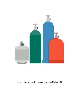 Gas cylinders. vector illustration