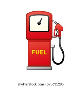 Gas fuel pump vector isolated. Petrol filling station icon.
