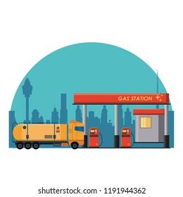 Gas fuel station