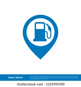 gas fuel station icon in blue colour
