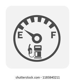 Gas gauge icon design, black color.