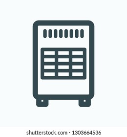 Gas heater vector icon