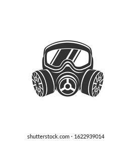 Gas mask icon vector, filled flat sign, solid pictogram isolated on white. Symbol, logo illustration