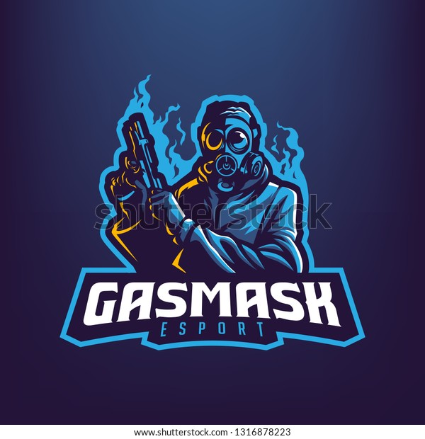 Gas Mask Man Mascot Logo