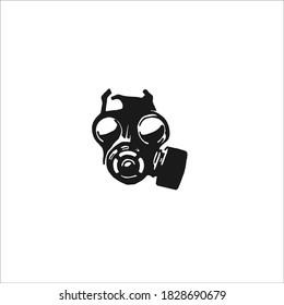Gas Mask Symbol Logo. Vector Illustration.