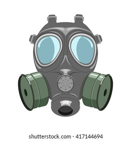 Gas mask vector illustration isoladed on a white background