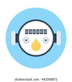 Gas Meter Vector Icon