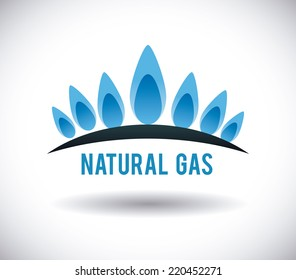 gas natural graphic design , vector illustration