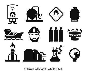 Gas and Oil icons set // 03