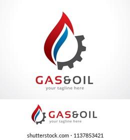 Gas and Oil Logo Template Design, Symbol, Icon