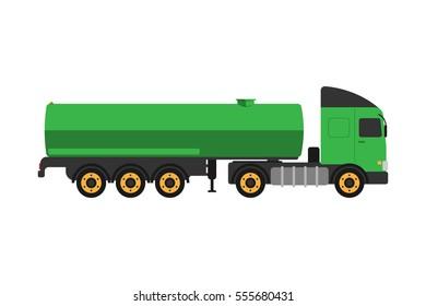 Gas oil truck vector illustration.