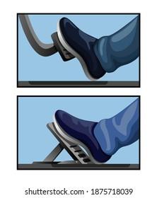 Gas Pedal car model comparison symbol automotive mechanical element concept illustration vector