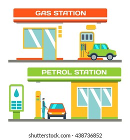 Gas and petrol station concept, vector eps 10 format.